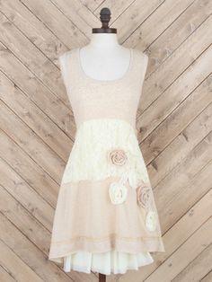 Altar'd State Rosebud A-Line Applique Dress