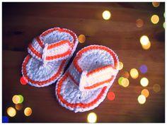 Cómo tejer unas bonitas chanclas para bebe a crochet