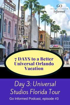 Listen to a tour of Universal Studios Florida on the Go Informed podcast, episode 3. #universalorlando #universalstudiosflorida via @goinformednet