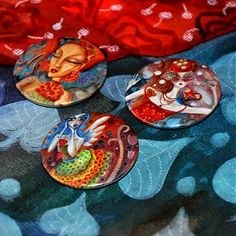 LucLac / LL Button Buttons, Painting, Art, Art Background, Painting Art, Kunst, Paintings, Performing Arts, Painted Canvas