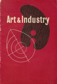 Art & Industry magazine cover, July 1946 - cover by Norbert Dutton