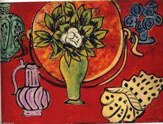 'bodegón con a `magnolia`', óleo sobre lienzo de Henri Matisse (1869-1954, France)
