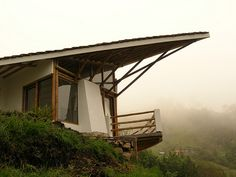 Bamboo house in Colombia designed and built to suit the topography and climate of the region.