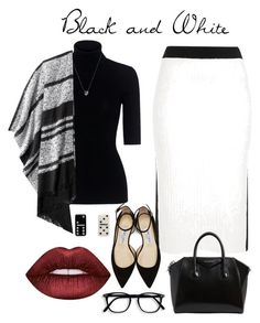 """Blanco y Negro, obsesión"" by suevalenciavalerio on Polyvore featuring moda, River Island, Theory, Old Navy, Jimmy Choo, Givenchy, Links of London, Marc Jacobs, Lime Crime y jimmychoo"