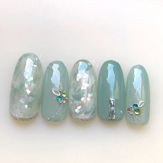 Classy Nails, Fancy Nails, Trendy Nails, Popular Nail Designs, Nail Art Designs Videos, Japanese Nail Art, Best Acrylic Nails, Feet Nails, Luxury Nails