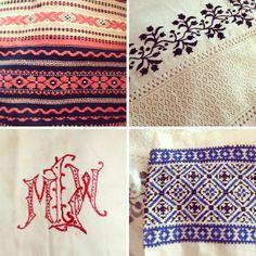 vintage linens #design #pattern #textile