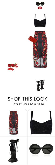 """IDon'tNeedYourRosesIHaveMyOwn"" by magsterific ❤ liked on Polyvore featuring Dolce&Gabbana, Schutz, Linda Farrow and JNB"