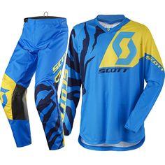 Scott 350 RACE Racewear Kit (BLU/YEL)