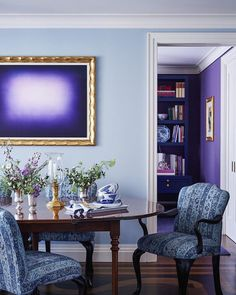 Sometimes you have to look back to see what's coming up ahead. In honor of the 2018 #Pantone Color of the Year, Ultra Violet: A #TBT to the exuberant Manhattan apartment @alexsviewpoint designed for his niece in 2016. Tap the link in bio for more ways to design with purple.  | Photo: Mikkel Vang