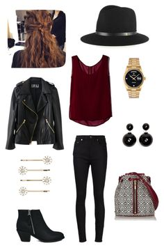 """Casual and pretty "" by luciboys ❤ liked on Polyvore featuring rag & bone, Yves Saint Laurent, Elizabeth and James, ELLA, Blink, Accessorize and Rolex"