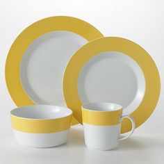 Food Network Banded Yellow 16-pc. Dinnerware Set
