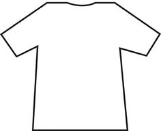TShirt Pattern Use The Printable Outline For Crafts Creating