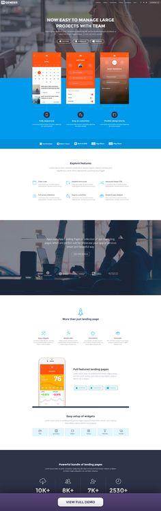 Display app screen shots upper top part in landing page