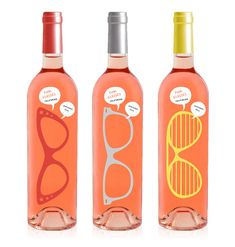 pink glasses wine bottle