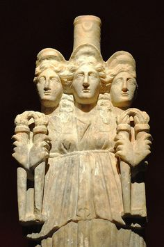 Hekate  The statue of Hecate (3rd century A.D.) on display in the Antalya Museum, Turkey.  Exhibiting over 5,000 artifacts relating to the history of the Mediterranean and Pamphylia regions in Anatolia, Antalya Museum (also known as the Antalya Archaeological Museum) is one of the largest and most important museums in Turkey.