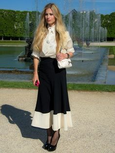 Laura Bailey. How to wear white shirt