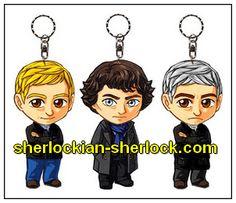 BBC Sherlock chibi doll Benedict Cumberbatch Martin Freeman