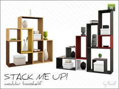 Stack me up! modular bookshelf by Gosik - Sims 3 Downloads CC Caboodle
