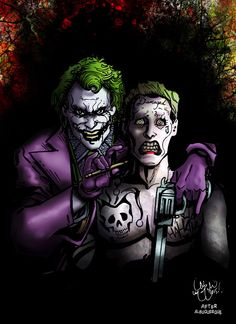 JOKERS Fine Art Print Signed by Chris McJunkin HEATH LEDGER JARED LETO JOKER | eBay Exclusive 8x11 Print Printed on Glossy 12 pt. Stock Comes autographed by Chris McJunkin Illustrated by Chris McJunkin of Junkdrawer Studio http://www.ebay.co.uk/itm/JOKERS-Fine-Art-Print-Signed-by-Chris-McJunkin-HEATH-LEDGER-JARED-LETO-JOKER-/291585587405?hash=item43e3daf8cd:g:qz0AAOSwtlhWF~rZ