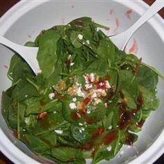 Spinach Salad with Pepper Jelly Dressing