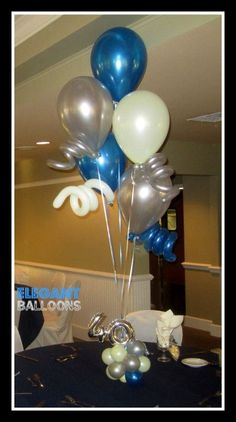 www.elegant-balloons.com - #40th Balloon Ideas, Balloon Decorations, Sweet 16 Decorations, Number Balloons, Balloon Bouquet, Bouquets, Birthday Ideas, Numbers, Centerpieces