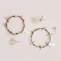 Woodstock London Flower Garland, Pink - www.shopminikin.com