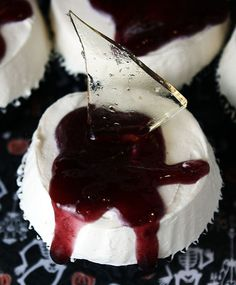 Shards of Glass Cupcakes -- Completely Edible and PERFECT for Halloween!!