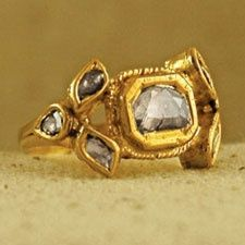 vintage Indian ring, yellow gold