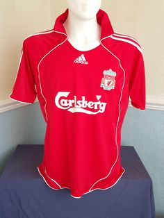 5a5c86db3 Liverpool LFC Adidas Camiseta Home 2006 08 Football Shirt Mens Size M  Medium Football Shirts