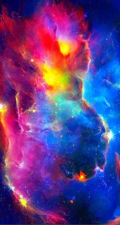 Colorful Space Nebula Stars iPhone 6 Plus HD Wallpaper