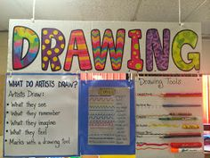 What do artists draw? What tools do artists use? Use these posters in your art room to increase recognition of the thought process behind being an artist - The Drawing Center Art Classroom Posters, Art Classroom Decor, Art Room Posters, Art Classroom Management, Classroom Organization, Organizing, Class Management, Elementary Art Rooms, Art Lessons Elementary