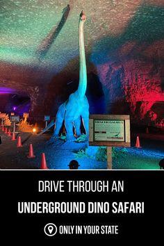 Have some family friendly fun at the Louisville Mega Cavern in Kentucky! Enjoy a unique underground drive-through dinosaur safari that kids and adults alike will love. It's a great day trip! Vacation Spots, Vacation Ideas, Travel Itinerary Template, Underground World, Perfect Road Trip, Road Trip Hacks, Road Trippin, 50 States