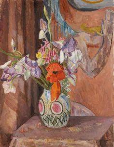 artist...Vanessa Bell  Flowers 1930's