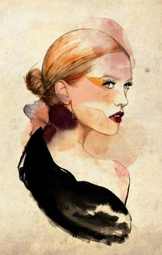lady by thecatspaw-d6kpr8q - Illustrations by Sarah Bochaton  <3 <3