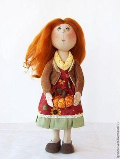 Fabric doll / Коллекционные куклы ручной работы. Ярмарка Мастеров - ручная работа. Купить Осень урожайная. Текстильная интерьерная кукла.. Handmade. Рыжий