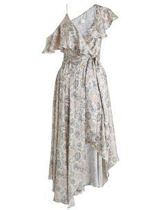Zimmermann Stranded Flared Midi Dress. Product Image.