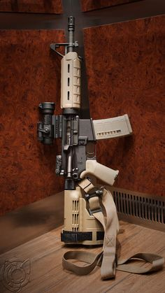 """Nice """"Pistol"""" AR build. Magpul furniture, Sig pistol armbrace, and an Aimpoint Patrol Rifle Optic. I'd run that..."""