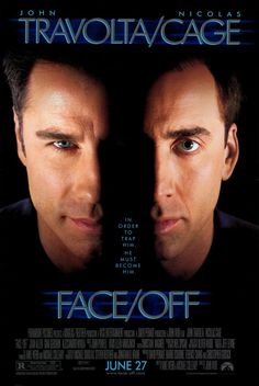 Face/Off (R) Stars: John Travolta, Nicolas Cage, Joan Allen, Alessandro Nivola Director: John Woo Writers: Mike Werb, Michael Colleary Story: An FBI agent plans on infiltrating a plot by assuming a face-transplant on a terrorist. Film D'action, Bon Film, Film Serie, See Movie, Movie List, Movie Tv, Cinema Tv, Films Cinema, John Travolta