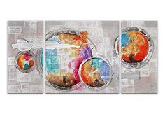 Arte dal Mondo AS351TX2 Abstrato Pintura realizada a mano y montada sobre bastidor grueso #cuadros #abstratos