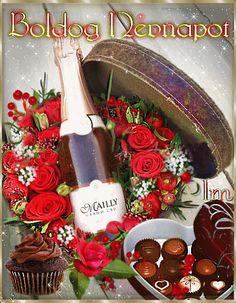 Birthday Name, Happy Birthday, Name Day, Champagne Bottles, Cooking Recipes, Table Decorations, Google, Happy B Day, Saint Name Day