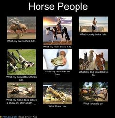 lol! Too bad I can't find an english riding version of this.