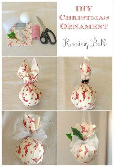 DIY Christmas Ornament - Kissing Ball by Max and Me