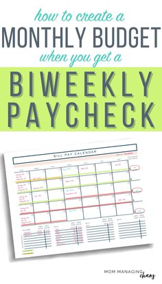 Monthly bills and biweekly paychecks got your budget a mess? Check out this ultimate guide to budgeting biweekly income. Budgeting Finances | Managing Your Money Budget Spreadsheet, Budget Binder, Monthly Budget, Budget Planner, Budgeting Finances, Budgeting Tips, Organizing Solutions, Mo Money, Envelope System