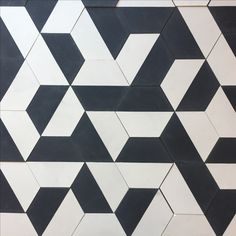 The popular Cement Tile Hexagon Black Half is responsibly sourced from Morocco. Clay Imports stocks this handmade tile in Austin, Texas.