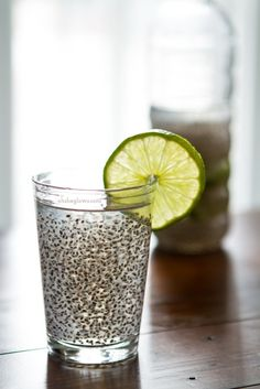 Chia Fresca: A Natural Energy Drink! (Coconut Water + Chia Seeds + Lime) Sounds....interesting...