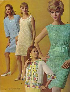 todos los días de la vendimia: coloridos de tejer suéteres en 1967