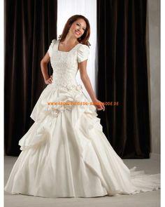 2013 Klassische Brautkleider aus Satin Ballrock mit Schleppe