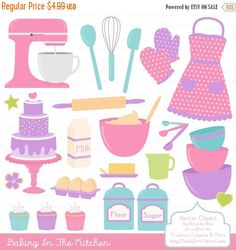 BIG AUTUMN SALE Professional Baking Clipart & by AmandaIlkov