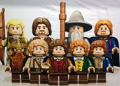 The Fellowship of the Ring in Legos! Trevor would like this. :)