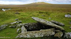 PRE-HISTORIC BURIAL CHAMBER: on Buttern Hill, Bodmin Moor, Cornwall.
